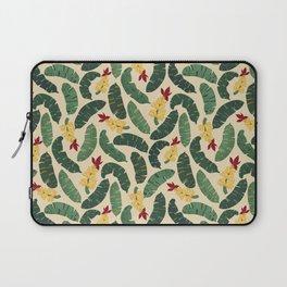 banana plant tropical seamless vector pattern Laptop Sleeve