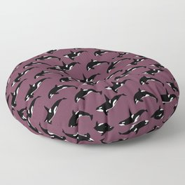 Orca Pattern: Mulberry Floor Pillow