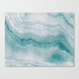 Sea green marble texture Canvas Print