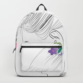 Fashion Illustration Hairdo Bridal Updo Hair Style Drawing Line Art Backpack