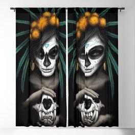 Voodo Dia De Los Muertos Day Of The Dead Sugar Ultra HD Blackout Curtain