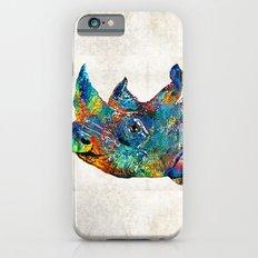 Rhino Rhinoceros Art - Looking Up - By Sharon Cummings iPhone 6s Slim Case