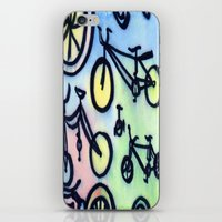 bikes iPhone & iPod Skins featuring Bikes by JustinPotts