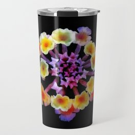 Camara flower - natural mandala Travel Mug