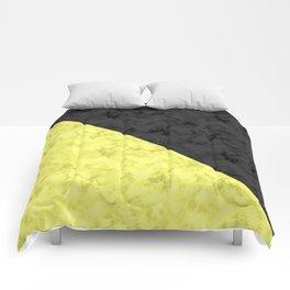 Black , yellow , lemon Comforters