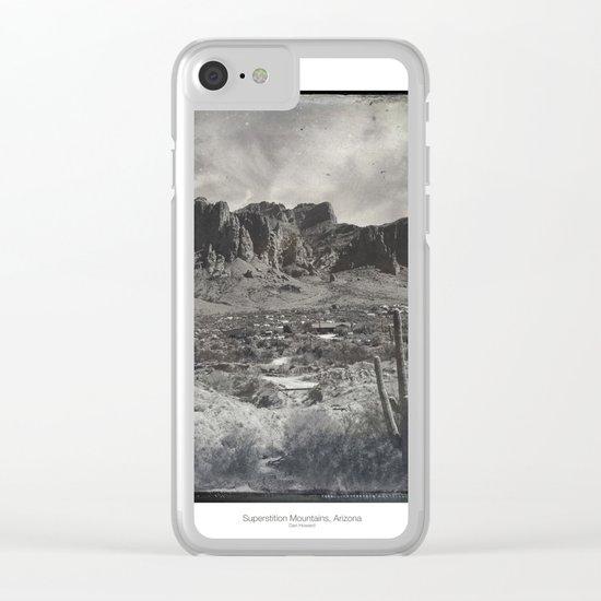 Superstition Mountain - Arizona Desert Clear iPhone Case