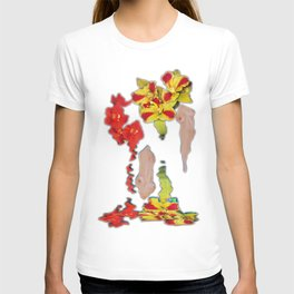 Melting Women and Orchids T-shirt