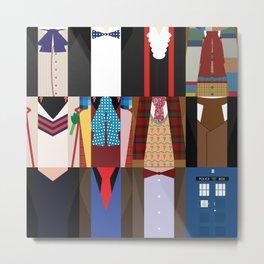 The Doctors - Doctor Who & TARDIS Metal Print