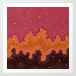 Autumn Starscape Art Print