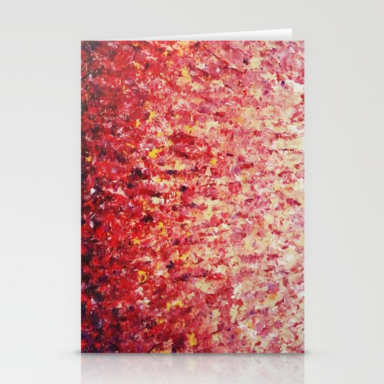 HYPNOTIC SUNRISE - Stunning Sunrise Sunset Pink Magenta Peach Crimson Bright Red Cream Stationery Cards