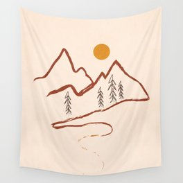 Mountain Minimal Wall Tapestry