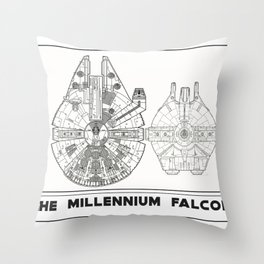 Millennium Falcon Blueprint Throw Pillow