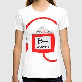 Blood B Negatif T-shirt