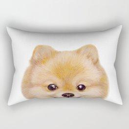Pomeranian Dog illustration original painting print Rectangular Pillow