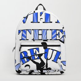 Be Up With The Boards Text And Kitesurfer Vector Backpack