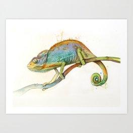 Chroma Chameleon Art Print