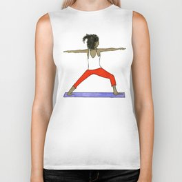 Yoga Folks - Warrior.   Biker Tank