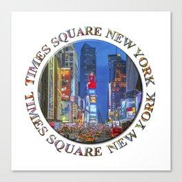 Times Square New York Badge Emblem Canvas Print