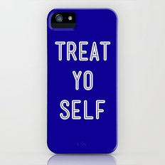 Treat Yo Self Blue - Parks and Recreation iPhone (5, 5s) Slim Case