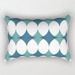 Carnival in Teal Rectangular Pillow