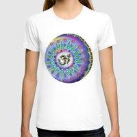 ohm T-shirts featuring Ohm Mandala  by Kaleidoscopic