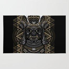 Samurai mask Rug