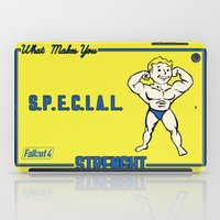 fallout iPad Cases featuring Strength S.P.E.C.I.A.L. Fallout 4 by sgrunfo