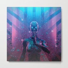 Artificial Secrets Metal Print