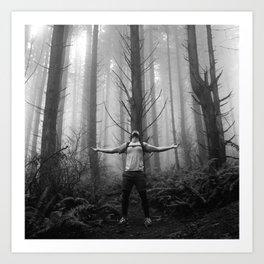 Metal Moment: Woods Art Print