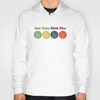 wine Hoodies featuring wine by flydesign