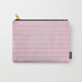 Vintage chic pink geometrical stripes pattern Carry-All Pouch