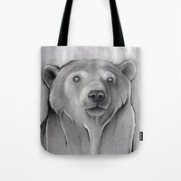 teddy bear Tote Bags featuring Teddy Bear by Puddingshades