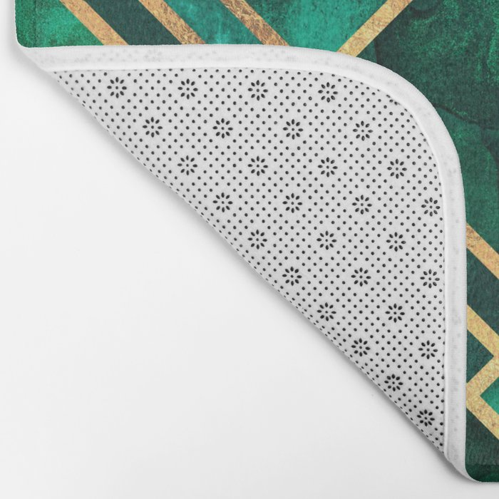 Emerald Blocks Bath Mat