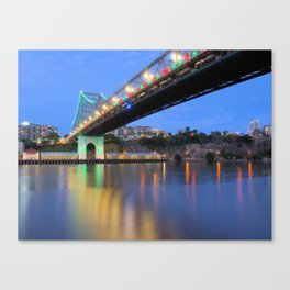 Christmas Bridge Canvas Print