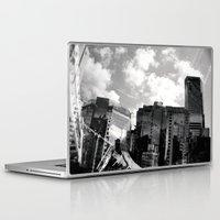 buildings Laptop & iPad Skins featuring Buildings  by Mich Li