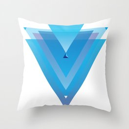 Triangules Throw Pillow