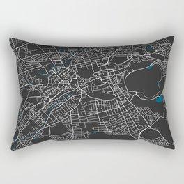 Edinburgh city map black colour Rectangular Pillow