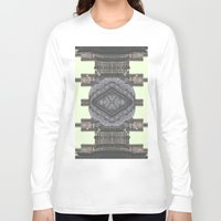 navajo Long Sleeve T-shirts featuring Architecture navajo by Moriarty