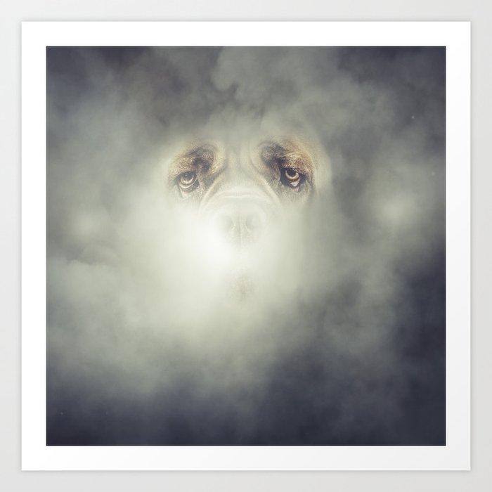 Dog Fog Art Print