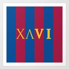 XAVI Blaugrana Type Logo Art Print
