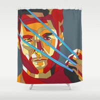 lawyer Shower Curtains featuring James Howlett by Liam Brazier