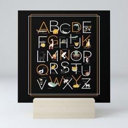 Alphabet Animals School Start Girls Boys Mini Art Print