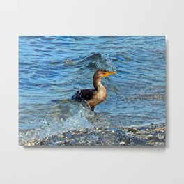 Onto the Beach Metal Print