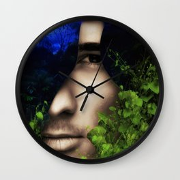When He looked into Paradise - It was Midnight Fx  Wall Clock