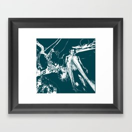 A dark prince Framed Art Print