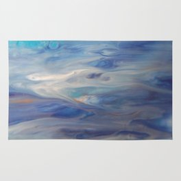 Ethereal Skies - Abstract Acrylic Art by Fluid Nature Rug