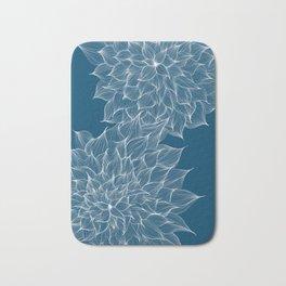 Flowers Blue Bath Mat