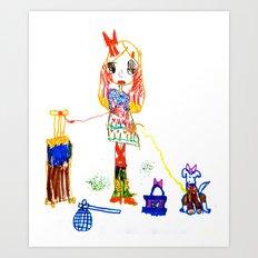 Girly Travel Art Print