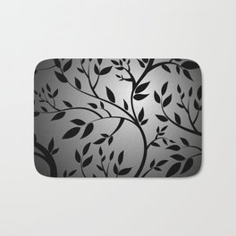 Black Trees on Gray Bath Mat