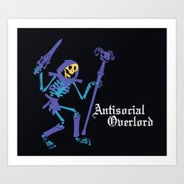 Antisocial Overlord Art Print